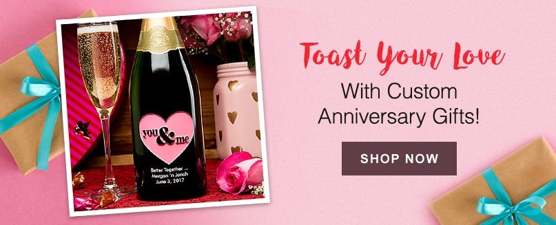 Toast Your Love With Custom Anniversary Gifts