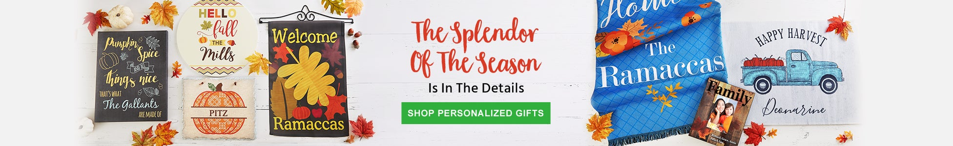 Personalized Fall Gifts
