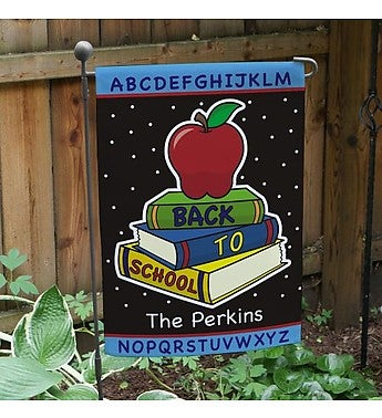 Personalized Back to School Flag